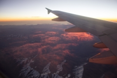 Sunset over the Andes, Chile