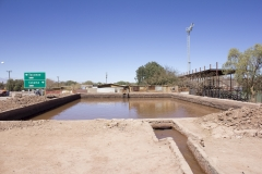 Irrigation basin in San Pedro de Atacama