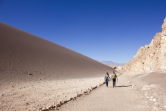Dunes in the Valle de la Luna in the Atacama Desert