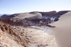 The Valle de la Luna in the Atacama Desert