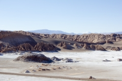 Salt pans in the Valle de la Luna, Atacama Desert