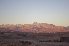 Sunset over the Valle de la Luna in the Atacama Desert