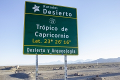 The tropic of Capricorn, Atacama Desert