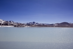 The high-altitude Lagunas Altiplanicas of the Atacama Desert Andes mountains