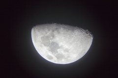 The moon as seen from telescopes at an observatory just outside of San Pedro de Atacama