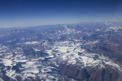 Passing over the Andes en-route to Santiago