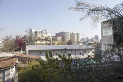 Santiago skyline from La Chascona, Pablo Neruda's Santiago house