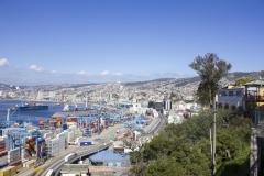 Valparaíso harbor skyline