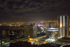 Valparaíso skyline at night