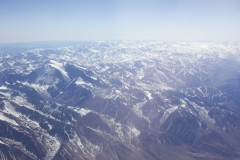 Passing over the Andes on the way to Paraguay