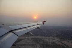 Sunset while departing Asunción, Paraguay
