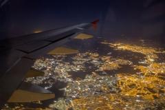 Night approach to São Paulo, Brazil