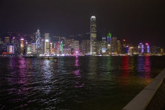 Tsim Sha Tsui waterfront at night, Christmas season