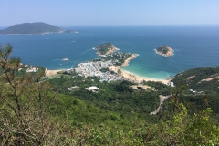 Shek O Beach as seen from Dragon's Back, Hong Kong Island