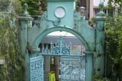 The gate to the Jamia Mosque, Mid-Levels, Hong Kong Island
