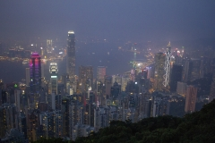 Hong Kong skyline from Lugard Road lookout, Victoria Peak