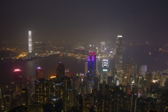 Hong Kong night skyline from Lugard Road lookout, Victoria Peak