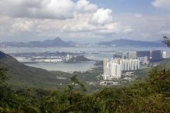 Hong Kong International Airport and Tung Chung as seen on the hike to the Big Buddha, Lantau Island