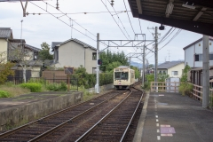 Randen at Keifuku Electric Railroad's Omuro-Ninnaji Station