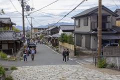 Kyoto street scene near the Philosopher's Path