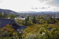 Kyoto as seen from Eikando Temple's pagoda
