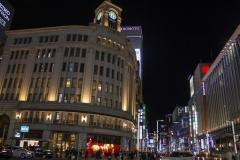 Chuo Dori at night, Ginza, Tokyo