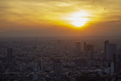 Tokyo sunset as seen from the Roppongi Hills Tower