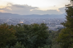 Kyoto at sunset as seen from the higher reaches of Fushimi Inari shrine