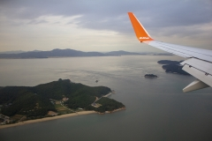 Landing at Incheon International Airport, Seoul