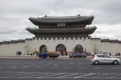 Gwanghwamun gate at Gyeongbokgung Palace, Jongno-gu