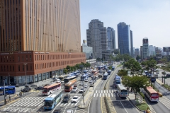Seoul Station surrounds as viewed from the Seoullo 7017 elevated park, Jung-gu