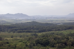 View of North Korea, Kaesong and the DMZ from Dora Observatory, Dorasan