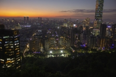 Taipei 101 sunset viewed from Elephant Mountain