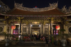 Taipei's Longshan Temple at night