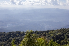 Looking towards Myanmar from the King's Pagoda in Doi Inthanon National Park, Thailand