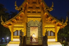 Wat Phra Singh at night, Chiang Mai, Thailand,