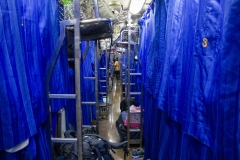 Nighttime cabin configuration on the train between Chiang Mai and Bangkok
