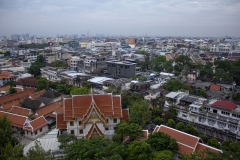 Bangkok skyline from The Golden Mount temple
