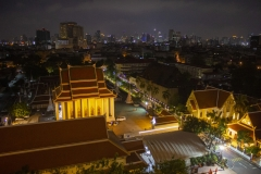 Bangkok at night from The Golden Mount temple