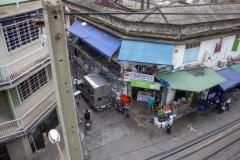 Street scene near Hua Lamphong station, Silom, Bangkok, Thailand