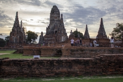 Sunset at the ruins of Wat Chaiwatthanaram, Ayutthaya, Thailand