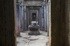 The main hallway of Preah Khan Temple, Angkor complex, Cambodia