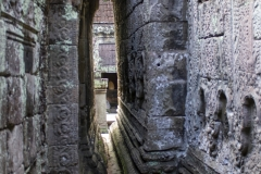 A narrow passage in Preah Khan Temple, Angkor complex, Cambodia