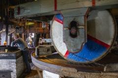 Inside De Zoeker, a peanut mill in Zaanse Schans
