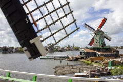 Windmills of Zaanse Schans from the top of De Zoeker