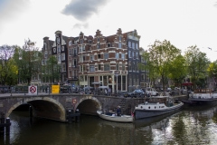 Corner of Brouwersgracht and Prinsengracht canals, Canal District, Amsterdam