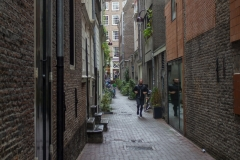 A narrow street in the Binnenstad, near the red light district, Amsterdam
