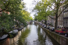 A canal near Rembrandtplein, Canal District, Amsterdam