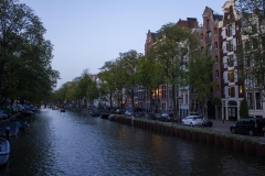 Singel at dusk, Canal District, Amsterdam